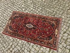 Perfect Persian / Iran Kashan Rug-141x72cm -hand knotted -SIGNET IN WOOL