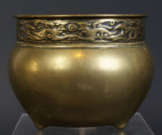 Antique Chinese bronze incense burner - China - 19th/early 20th century