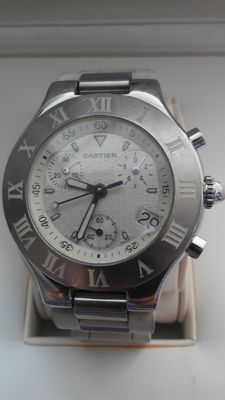 Cartier Must 21 Chronoscaph  Ref. 2424 - men's - 2011 to present
