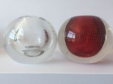 A.D. Copier (Leerdam) - Red nail ball and clear nail ball (12 cm)