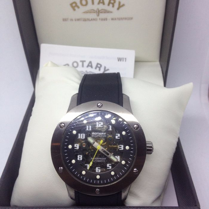 Rotary Editions Men's 500B Automatic Analogue Rubber Strap Casual Watch
