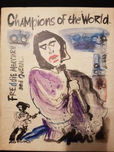 Ian Dickson (1945-) - Queen - Champions of the World - 1974-76