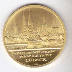 "Germany – 100 euro 2007 ""Unesco, Lübeck"" – 1/2 ounce gold"