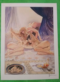 Graphic art; Milo Manara - Aphrodite 12 - late 20th century