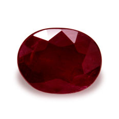 Purple red ruby – 1.61 ct.