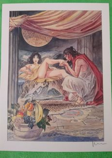 Graphic art; Milo Manara - Aphrodite 10 - late 20th century