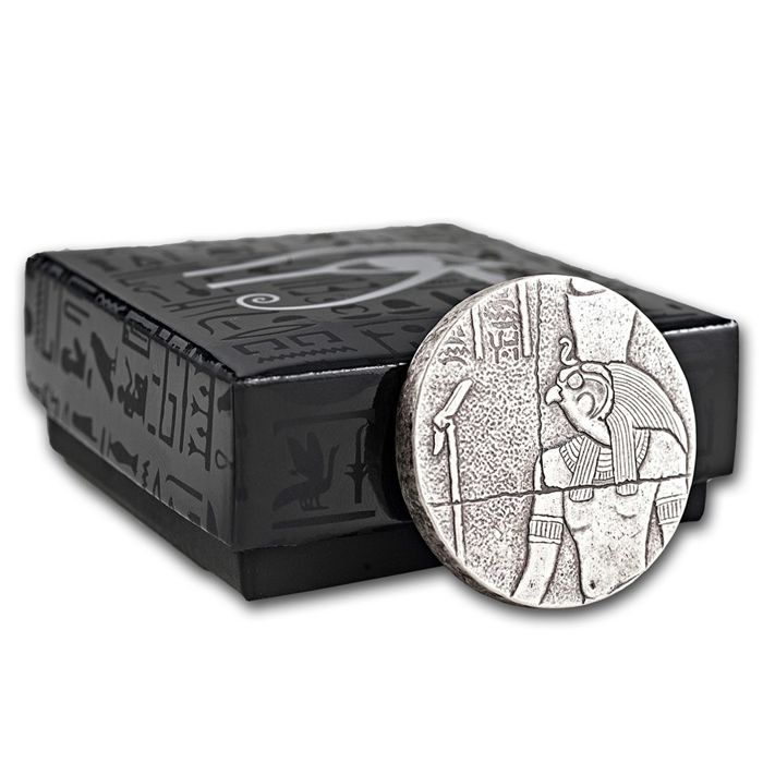 United States - Scottsdale Mint - 1,000 Chad - 2 oz 999 silver coin Republic of Chad 2016 - Horus - Egyptian relic - silver antique finish