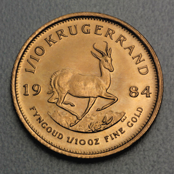 South Africa - Krugerrand 1/10 oz gold coin / gold