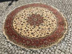 OLD LUXURY RUG hand knotted TABRIZ RAJ - 205x205cm