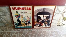 Lot of Guinness advertising sign.