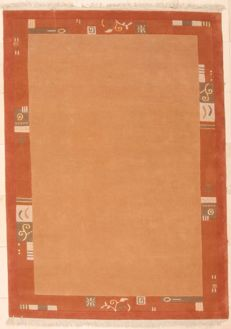 Indo Nepal - wool and silk - hand-knotted - 173 x 242 cm - India, recent.