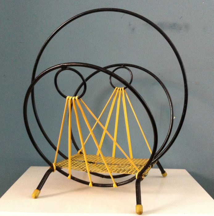 Producer Unknown   Vintage Magazine Rack In Butterfly Model Design Ideas