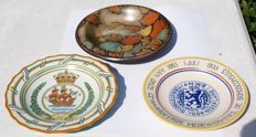 Plateelbakkerij Zuid-Holland - Three decorative/commemorative plates