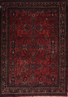 Hand-knotted Persian rug - Hosseinabad - 266 x 369 cm - Iran - Around 1980