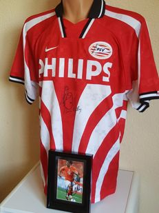 Ruud van Nistelrooij - Real Madrid, PSV, Man. United legend - shirt PSV hand signed + photo hand gesigned + COA
