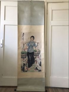 A scroll painting - China - late 20th century