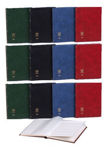 Accessories – 12 Importa stock albums with sixteen white pages.