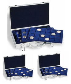 Accessories – Leuchtturm, 3 coin cases, each with 6 coin trays.