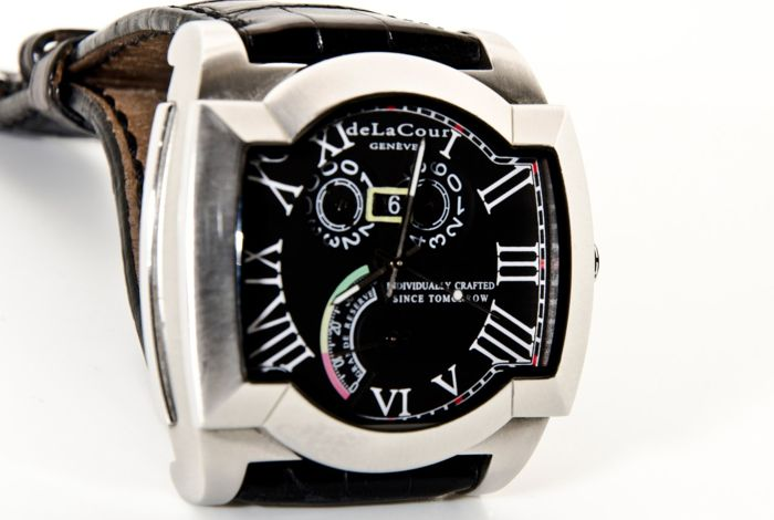 Delacour Rectangular Limited Edition Power Reserve - 003/500