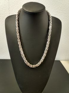 Silver king's braid necklace 925 - 61cm - 178g