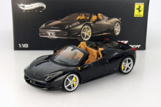 Hot Wheels Elite - Scale 1/18 - Ferrari 458 Spider - Black