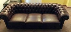 Chesterfield leather sofa - late 20th century