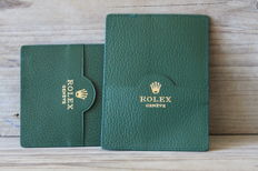 2 green Rolex Document/certificate holders