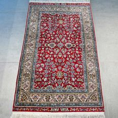 Very finely knotted, silk, Kayseri carpet - signed twice - 700,000 kn/m² - very good condition