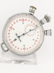 Bulova stop watch / pocket watch S 45 Mono-rattrapante (split seconds), 1970s