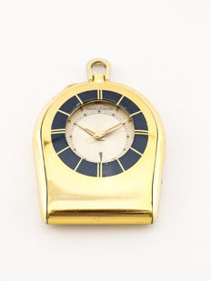 Jaeger-LeCoultre Memovox pocket watch / table clock with alarm, 1960s