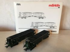 Märklin H0 - 46802 - Set with 2 coal-chute wagons of the K.Bay.St.B.