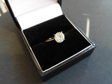 18k Gold Diamond Solitaire Ring – 1.00ct - size 52