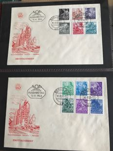 DDR 1947 / 1990 - FDC &  letter collection - 3350 postal items