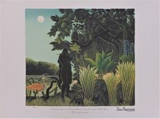 Henri Rousseau (after) - Paysage de la forêt vierge + La charmeuse de serpent  (two works)