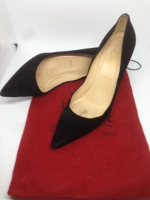 d2a6cc96f3e Christian Louboutin - Pigalle Follies 100mm 4inches Suede Black Pumps