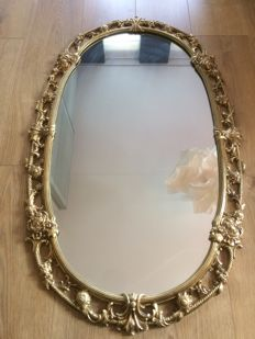 Mirror with matching candle lamps, French, second half of 20th century