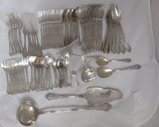 Wolfers Brussel - Art Nouveau solid silver cutlery -  97-pieces