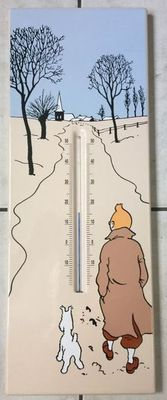 Hergé - Emaille plaat / thermometer L'Emaillerie Belge - (1995)