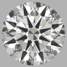 0.45 Carat Round Brilliant Diamond, DVS2, Cert: GIA #1790