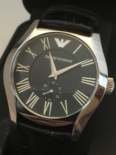 "Emporio Armani AR-0643 ""Classic"" – men's dresswatch – 2017 -- used, in mint condition."