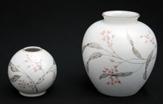 Fritz von Stockmayer for Rosenthal A.G. - Two hand painted porcelain vases