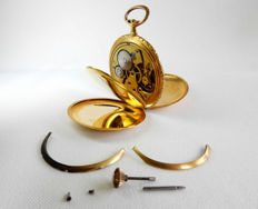 IAXA Pocket watch/chronometer  - Jacques Meyer - High precision - 18 kt gold - savonnette watch with three shells.