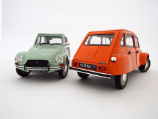 Solido - Scale 1/18 - Lot with 2 models: Citroen Dyane 6 - Jade green and Citroen Dyane 6 - Tenere orange