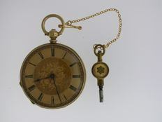 Stauffer, la Chaux de Fonds, Gent's Keywind Open Face Pocket Watch Swiss 1870
