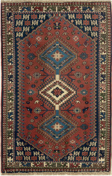 NEW*Yalameh -Handknotted/Persian/ORIENTAL/ - Yalameh-Carpet  125 x 82 IRAN Around 1980