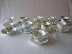 10 Beautiful Royal Albert cups and saucers Bone China England