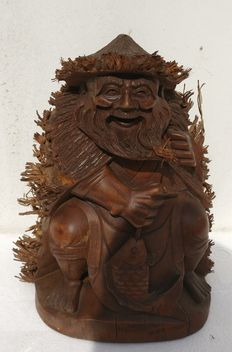 Wooden Chinese sculpture - China - 1950