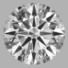 0.21 Carat Round Brilliant Diamond, EIF, Cert: GIA #1786
