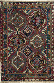 NEW*Yalameh -Handknotted/Persian/ORIENTAL/ - Yalameh-Carpet  118 x 80 IRAN Around 1980