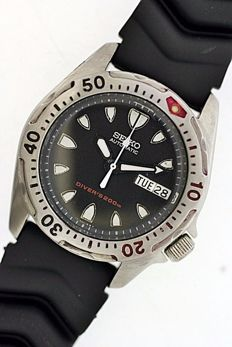 Seiko Scuba Divers 7S26 0010 Automatic Day/Date Gents Wristwatch c.1999 Water resistant 200m